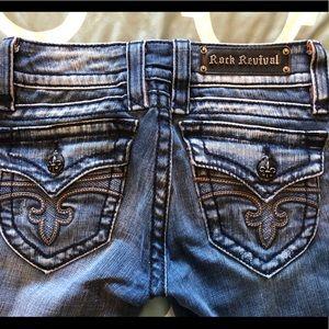 Women's Rock Revival Jeans, Size 26